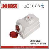 Soquete industrial de IP44 4p 63A com interruptores e bloqueio mecânico