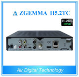 空気デジタルZgemma H5.2tcサテライトレシーバDVB-S2+ 2X DVB-T2/CはコアHevc記録のセットトップボックスH. 265の二倍になる