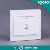 Commutateur électrique britannique de mur de Bell de porte de bouton poussoir de la norme D2091 d'Igoto