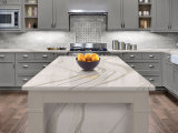China Supplier Prefab Crystal White Color Artificial Quartz Stone Kitchen Bench Top