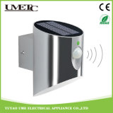 Éclairage LED solaire extérieur de mur de jardin de détecteur de RoHS solides solubles de la CE