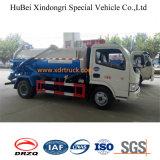 modèle de Dongfeng de camion-citerne aspirateur d'eaux d'égout de l'aspiration 4cbm