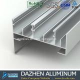 Profil en aluminium de la Tanzanie pour la porte coulissante de tissu pour rideaux de guichet