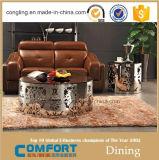 Tavolino da salotto di modo con la mobilia intagliata dell'acciaio inossidabile
