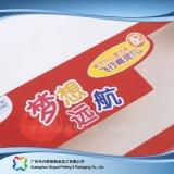 Caixa cosmética de empacotamento embalada plano barato impressa da medicina da dobradura (xc-pbn-002)