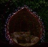 [س] [روهس] 2017 [لوو فولتج] [3م] [400لد] لبن بيضاء كرة مدلّاة ومض مفرقعة نارية [لد] خيط ضوء لأنّ [ودّينغ برتي] نمو عرض منزل