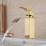 "8 ""Cover Plate Chrome Brass Waterfall Basin Sink Vanity Faucet"