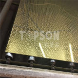 Feuille repérée 304 d'acier inoxydable de fini