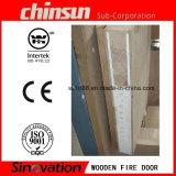 Sezione di legno del foglio della porta antincendio
