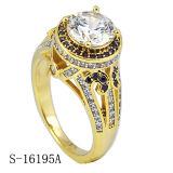 Ring van Diamant 925 van de Juwelen van de manier de Zuivere Echte Zilveren