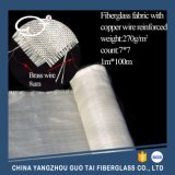 Latón alambre reforzado de fibra de vidrio de tela