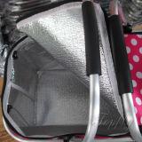 Panieraio impermeabile dell'isolamento termico con la gomma piuma di alluminio del raso e della maniglia