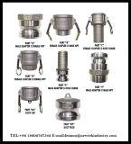 Koppeling van Camlock van de Schakelaar van het roestvrij staal de Snelle in Type gelijkstroom