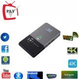 WiFi Pocket portatif du projecteur 2.4G/5g de l'androïde 4.4 Rk3128 1g/8g de projecteur du cadre DEL M6 de M6 Kodi TV mini
