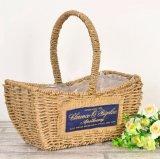 (BC-SF1017)環境に優しいハンドメイドの自然なわらの花のバスケット