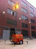 Tour hydraulique d'éclairage LED de mât avec l'engine de Kubota