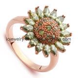 Anello d'argento personalizzato di qualità superiore dei monili