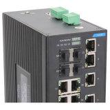 22 accesos ayunan el interruptor portuario del SFP Fx del interruptor 4 de Ethernet