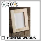 Unfertiger roher festes Holz-Bilderrahmen für Tischplattendekoration