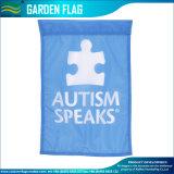 Связанный флаг сада осведомленности аутизма полиэфира изготовленный на заказ декоративный (J-NF06F11006)