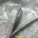 履物の企業のための熱い販売の真珠色の合成物質PUの革
