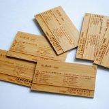 Carte de visite professionnelle de visite respectueuse de l'environnement de /Printing et belle en bambou découpée par laser