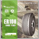 neumáticos baratos radiales del neumático sin tubo nuevos TBR del neumático del carro 11r22.5 con el PUNTO de Smartway