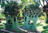 Vidrio de fibra de plástico reforzado / Bloque de acero inoxidable escena de la pared Decoración interior, Decoración al aire libre Metal Escultura Jardín
