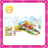 De grappige Spoorweg van het Reuzenrad met het Lichte Vastgestelde Stuk speelgoed van het Spel van de Blokken van de Trein