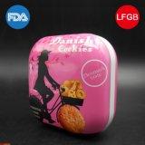 Contenitore quadrato di biscotti; Stagno del pane; L'alimento del contenitore di latta del regalo può (S001-V28)