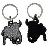 Cadeau souvenir - Porte-clés en métal divisé Porte-clés Peinture en couleur avec petit porte-clés Porte-clés Porte-clés