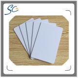 Cartão em branco plástico de Cr08 Szie RFID com a microplaqueta M1/F08