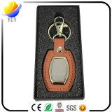 Unterschiedliche Farbe des Metalls Lether Keychain
