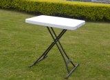頑丈なHDPE Personal 3つの高さAdjustable Table 金属Bar サポート白い