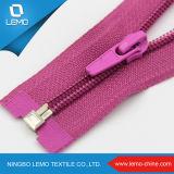 Zipper 3# de nylon colorido com slider misturado