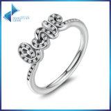 Firma dell'argento sterlina di alta qualità 925 dell'anello della CZ della radura di amore