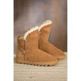 Da neve do inverno da pele de carneiro botas