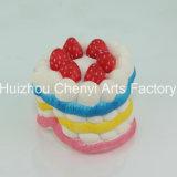 느린 반동 다채로운 음식 모양 PU 거품 케이크
