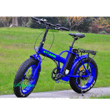 عنصر ليثيوم باردة كهربائيّة يطوي ثلج درّاجة مع إطار العجلة سمين