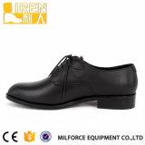 Chaussures bon marché d'armée d'officier de sûreté de noir des prix de vente chaude