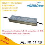 excitador impermeável atual constante programável ao ar livre do diodo emissor de luz de 200W 2.52A 47~95V