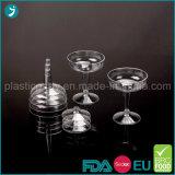 De duidelijke Plastic Fluiten van Champagne