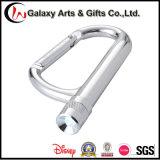 Láser / Screen Printing Escalada Senderismo Antorcha de aluminio Keychain Carabiner LED