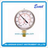 합성 압력 측정하 진공 압력계 액체에 의하여 채워지는 압력 계기