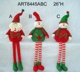 "20 "" H 자동 고사포 다리가 있는 산타클로스 눈사람 크리스마스 훈장 Selfsitter -3asst"