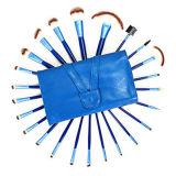 24PCS 합성 머리를 가진 파란 직업적인 메이크업 솔 세트
