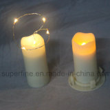 Votive Size Elegant Soft Flickering Wedding Plastic LED velas com AA bateria operada