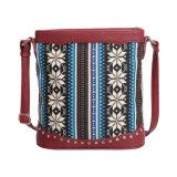 ボヘミアのエキゾチックなキャンバスの女性のメッセンジャー袋(MBNO042091)