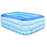 piscine gonflable de 3 boucles de jardin géant de famille de 210cm