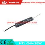 bloc d'alimentation imperméable à l'eau de l'interpréteur de commandes interactif en aluminium continuel DEL de la tension 24V-30W